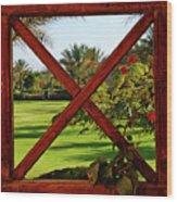 Frame I Wood Print by Chaza Abou El Khair
