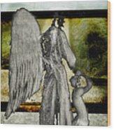 Framed Angel Wood Print