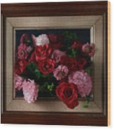 Framed Bouquet Of Flowers Wood Print