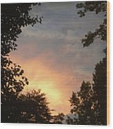 Framed Fire In The Sky Wood Print