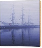 Framed In Fog Wood Print