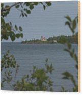 Framed Lighthouse Wood Print