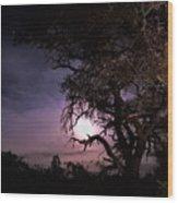 Framed Moon Wood Print
