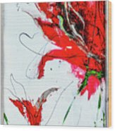 Framed Scribbles And Splatters On Canvas Wrap Wood Print