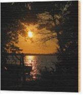 Framed Sunset Wood Print