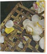 France Flower Petals, Rose, Still-life Wood Print