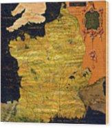 France Map Wood Print