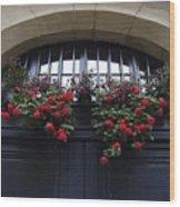 France, Paris, Flower Bouquet Hanging Wood Print