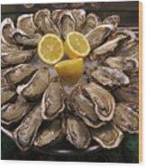 France, Paris Oysters On Display Wood Print