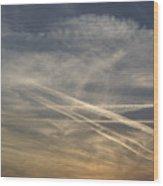 France, Paris, Tail Of Smoke In Sky Wood Print