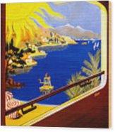 France Vintage Travel Poster Restored Wood Print
