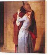 Francesco Hayez Il Bacio Or The Kiss Wood Print