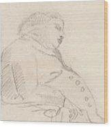 Francis Grose Asleep In A Chair Wood Print