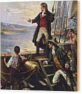 Francis Scott Key, 1779-1843 Awakes Wood Print by Everett