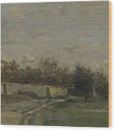 Francois Daubigny   The Garden Wall Wood Print