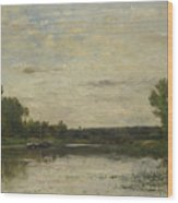 Francois Daubigny   View On The Oise Wood Print