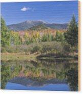 Franconia Autumn Reflections Wood Print