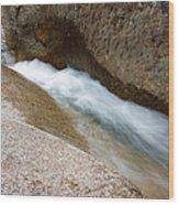 Franconia Falls - Lincoln New Hampshire Usa Wood Print
