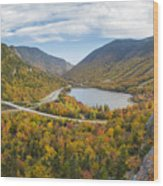 Franconia Notch Autumn View Wood Print
