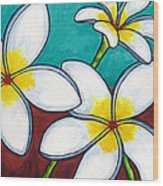 Frangipani Delight Wood Print