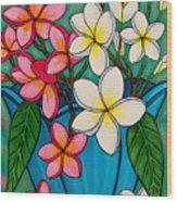Frangipani Sawadee Wood Print by Lisa  Lorenz