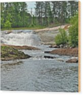 Frank J Russel Falls 2 Wood Print