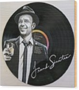 Frank Sinatra Portrait On Lp Wood Print