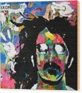Frank Zappa Pop Art Wood Print