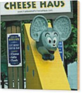 Frankenmuth Cheese Haus Mouse  Wood Print