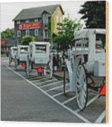 Frankenmuth Michigan Carriages At The Mill Wood Print