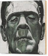 Frankenstein Portrait Wood Print