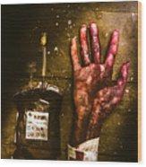 Frankenstein Transplant Experiment Wood Print