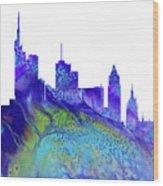 Frankfurt Skyline 3 Wood Print