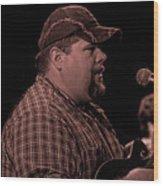 Frankie Ballowe In Sepia 8742s  Wood Print