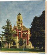 Franklin County Courthouse - Hampton Iowa Wood Print