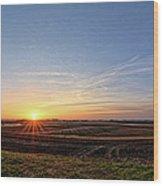 Franklin County Iowa Wood Print