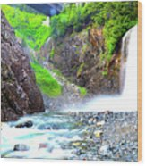Franklin Falls Wood Print