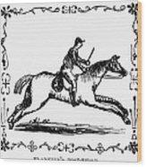 Franklin: Post Rider, 1775 Wood Print