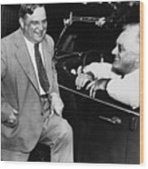 Franklin Roosevelt And Fiorello Laguardia In Hyde Park - 1938 Wood Print