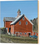Franklin Spring Barn Wood Print