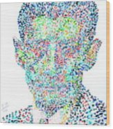 Franz Kafka Watercolor Portrait.1 Wood Print