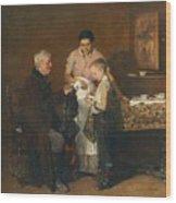 Franz Rumpler  The Letter 1882 Wood Print