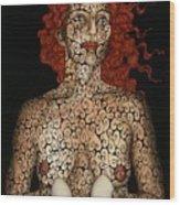 Frau Mit Eiern Wood Print