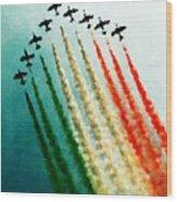 Frecce Tricolori Wood Print