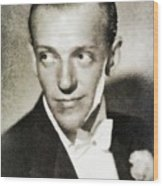 Fred Astaire, Vintage Actor And Dancer Wood Print