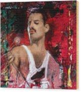 Queen Freddie Mercury Wood Print
