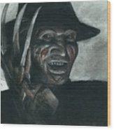 Freddy Krueger Wood Print