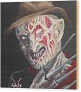 Freddy's Back Wood Print