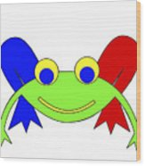 Frederic The Frog Wood Print