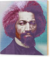 Frederick Douglass Painting In Color Pop Art Wood Print